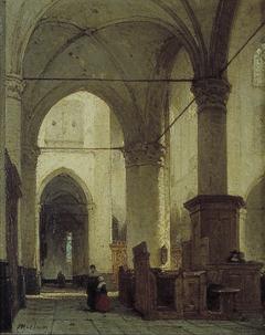 Interieur van de Grote of St. Laurenskerk te Alkmaar