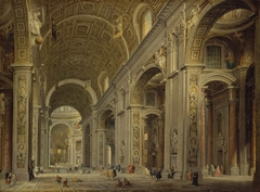 Interior of St Peter's Cathedral in Rome