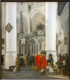 Interior of the Church in Delft with the Tomb of William the Silent