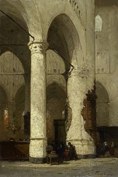 Interior of the 'Hooglandse' Church, Leiden