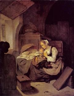 Interior with Nursing Mother