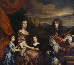 James II, when Duke of York with Anne Hyde, Princess Mary, later Mary II and Princess Anne