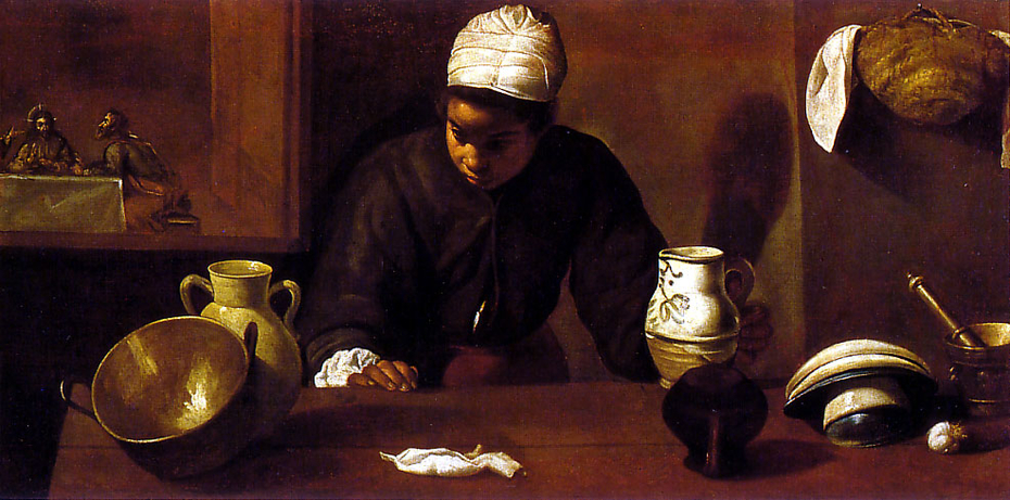 Kitchen Scene with the Supper in Emmaus