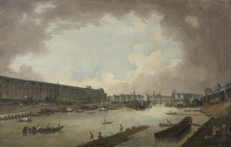 La Grande Galerie, le Pont-Neuf et l'île de la Cité, vus du Pont Royal