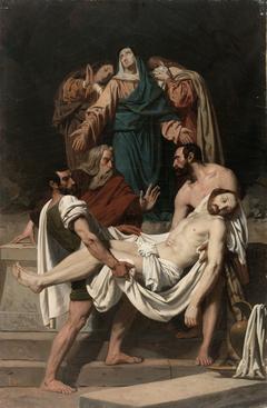 La Mise au tombeau, esquisse pour l'église Saint-Antoine-des-Quinze-Vingts