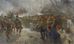Landing of the First Canadian Division at Saint-Nazaire, 1915