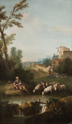 Landscape with Jacob Watering Laban's flock