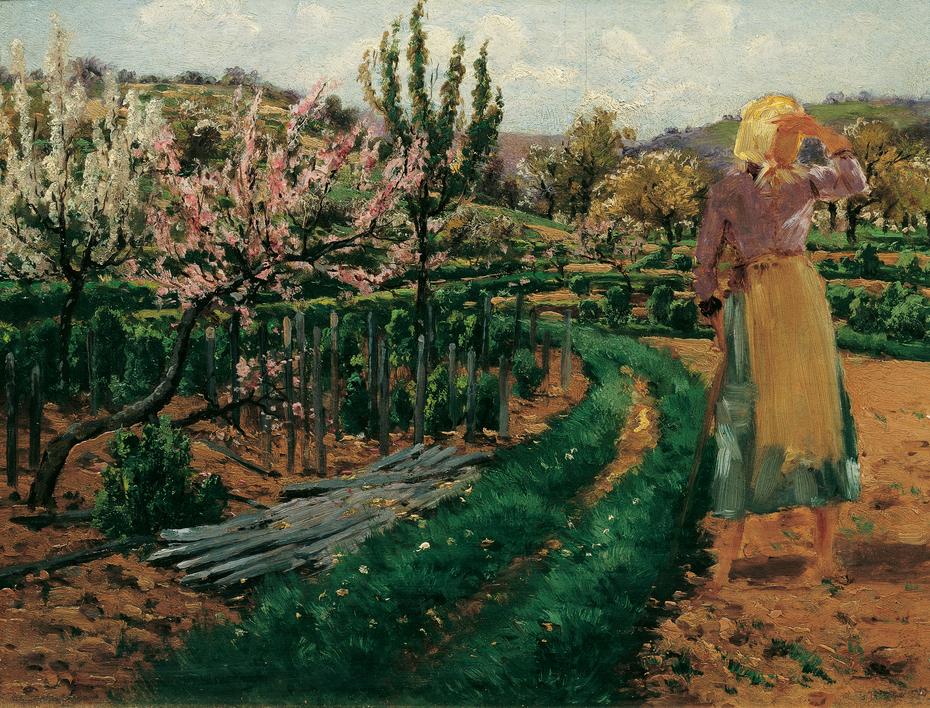 Mädchen im Obstgarten