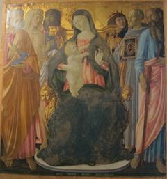 Madonna in trono col Bambino e i Santi Pietro, Sebastiano, Giovanni Battista, Sigismondo, Bernardino e Paolo