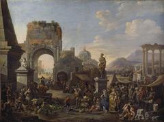 Markt zwischen antiken Ruinen