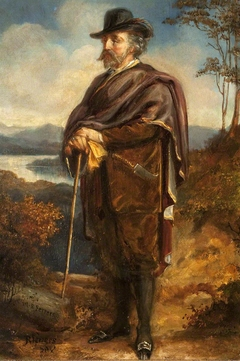 Marmion Edward Ferrers (1813-1884) out walking (possibly in the Highlands)