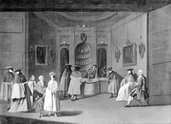 Masked and Unmasked Persons at the Confectioner's
