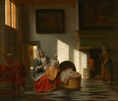 Mother with a Child and a Chambermaid