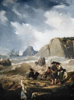 Naufrage sur la côte bretonne