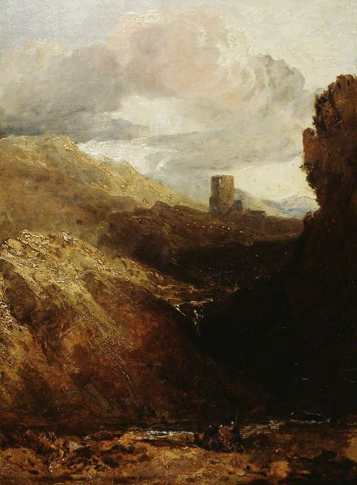 Oil painting of Dolbadarn Castle