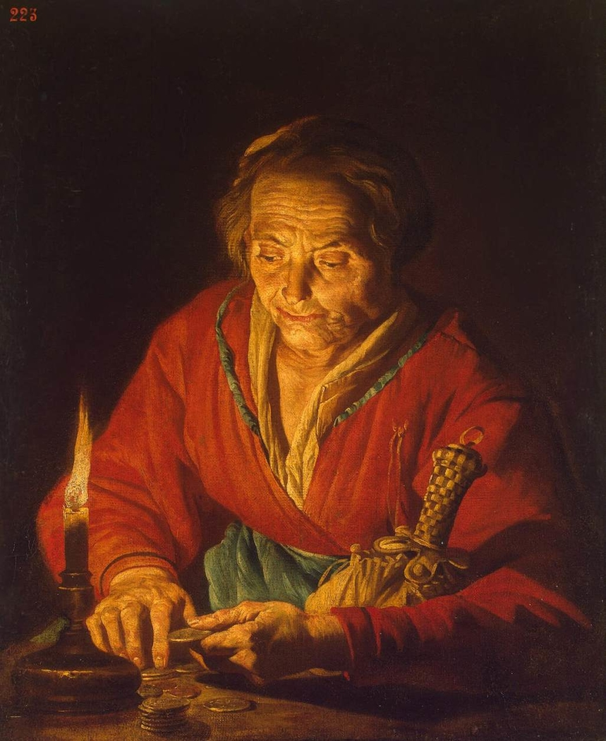 Old Woman with a Candle