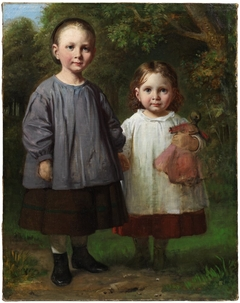 Ottilia and Christy Marstrand, the Artist's daughters