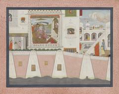 Palace Scene with EmperorAurangzeb