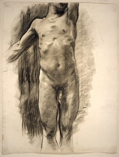 Partial View of a Standing Male Nude