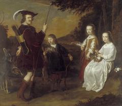 Pieter Coenen (1586-1637) en zijn kinderen Johan, Catharina en Geertuyd