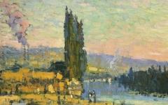 Poplars, shore of Eauplet