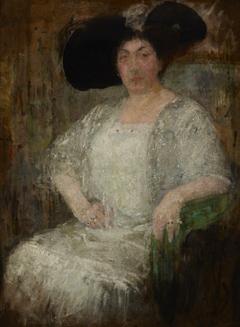 Portrait of a French Lady-Writer Gabrielle Réval