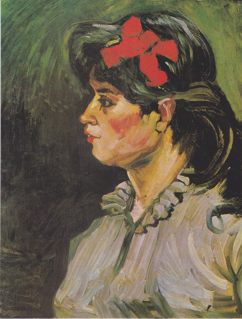 Portrait of a Lady with Red Hair Band