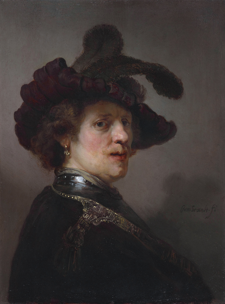 Portrait of a man in a plumed hat