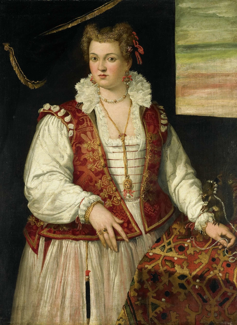 Portrait of a Woman with a Squirrel