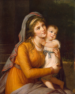 Portrait of Countess Anna Stroganova with Her Son