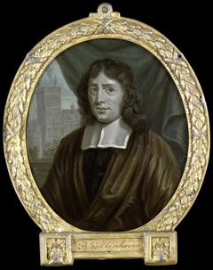 Portrait of Joannes Vollenhove, Clergyman and Poet in The Hague