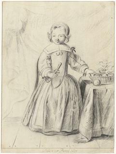 Portret van een kind in een interieur