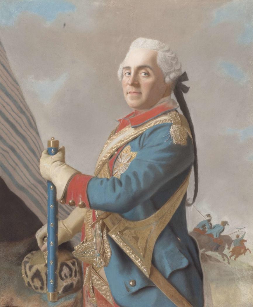 Portret van graaf Herman Maurits van Saksen (1696-1750), maarschalk van Frankrijk