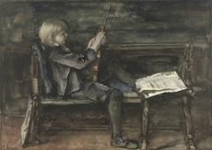 Portret van Willem Matthijs Maris, met viool