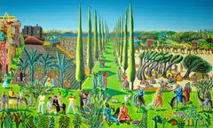 raphael perez after reuven rubin  naive art paintings landscape artworks painting by israeli painter raphael perez