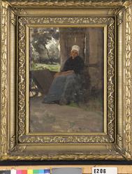 Resting peasant woman