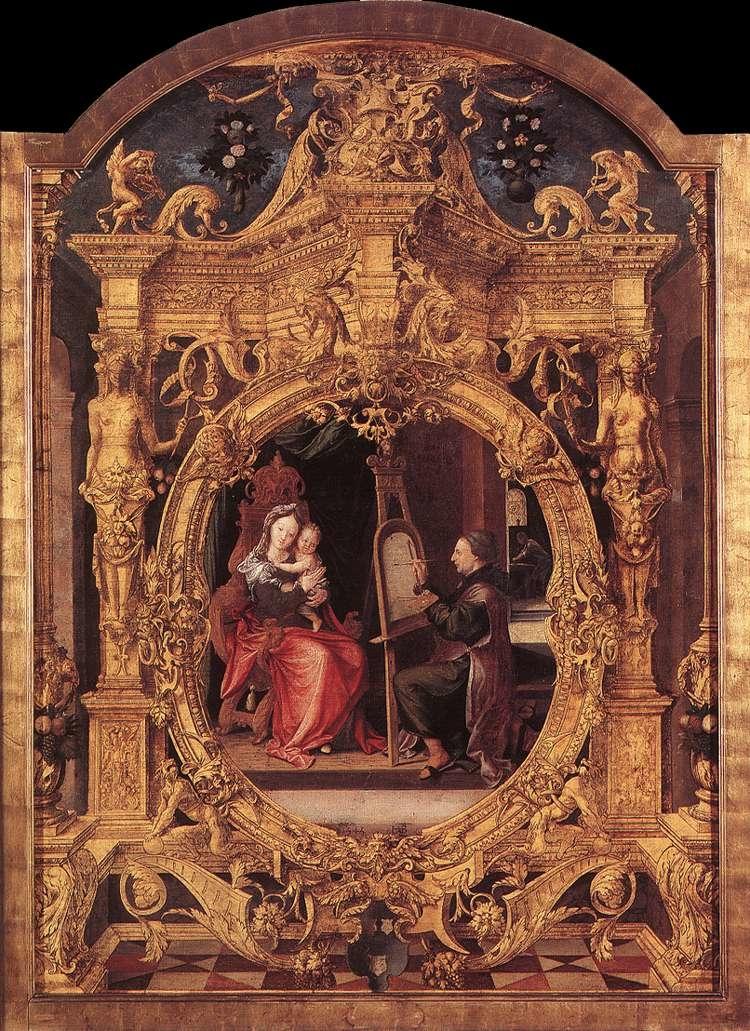 Saint Luke painting the Madonna