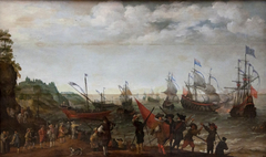 Sea Battle between Dutch and British ships in 1623