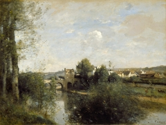 Seine and Old Bridge at Limay