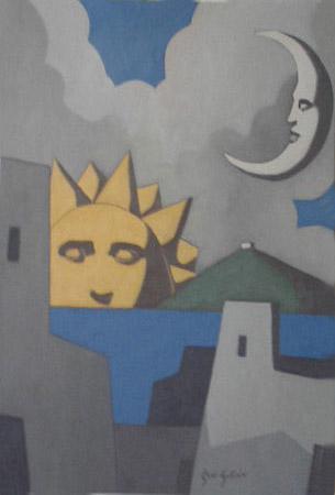 Serie Soles y Lunas. Sol y Luna IX