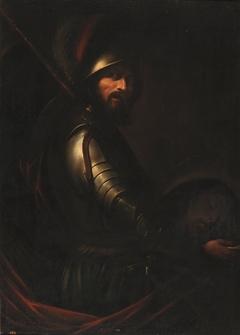 Soldado portador de la cabeza del Bautista