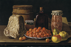 Still Life with Fruit and Cheese