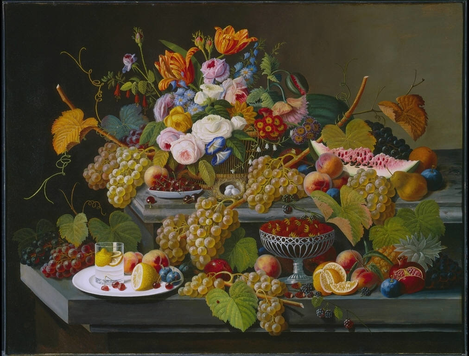 Still-life with Fruit and Flowers
