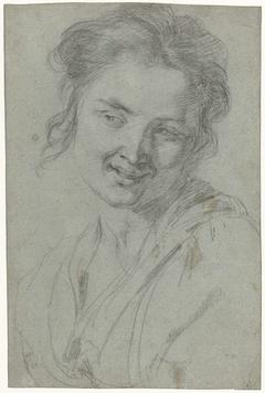 Studie van een lachende vrouw