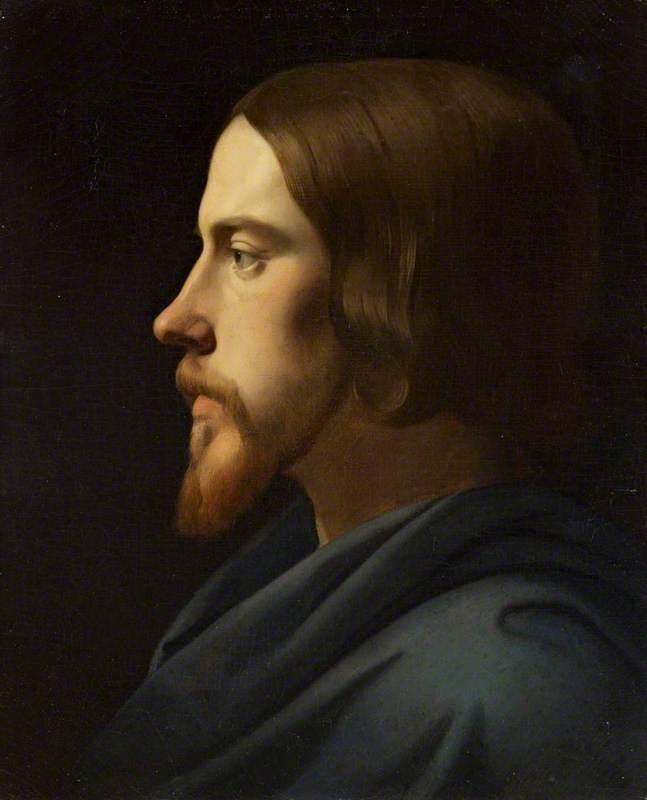 Study for the Head of Christ for La Madeleine, Paris (Portrait of Eugène Buttura)
