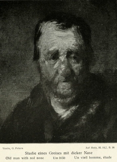Study of a man with a swollen nose
