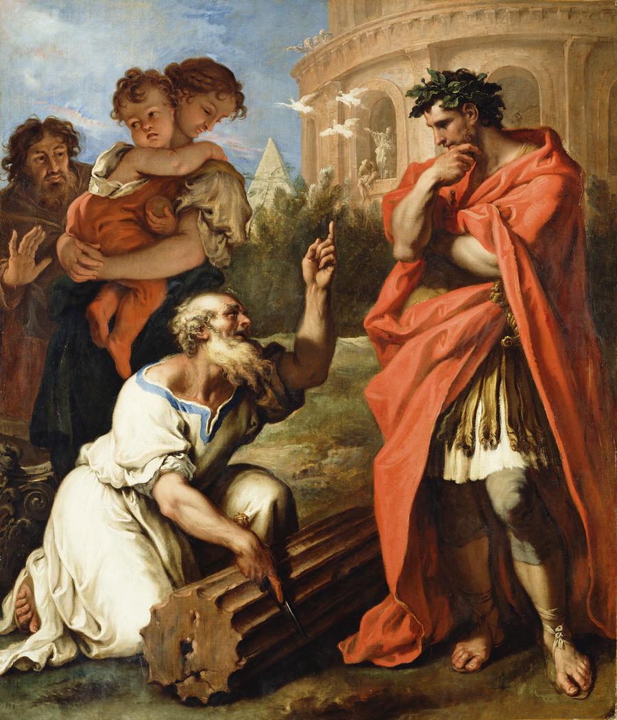 Tarquin the Elder Consulting Attius Navius