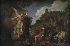 The Angel Raphael Takes Leave of Old Tobit and his Son Tobias