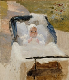 The Artist's Son Erik in a Pram