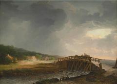 The Bridge across Tryggevælde River with a View of Køge, Zealand